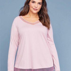 Lane Bryant-Mesh-Inset SwingTee-Lavender-Size18/20